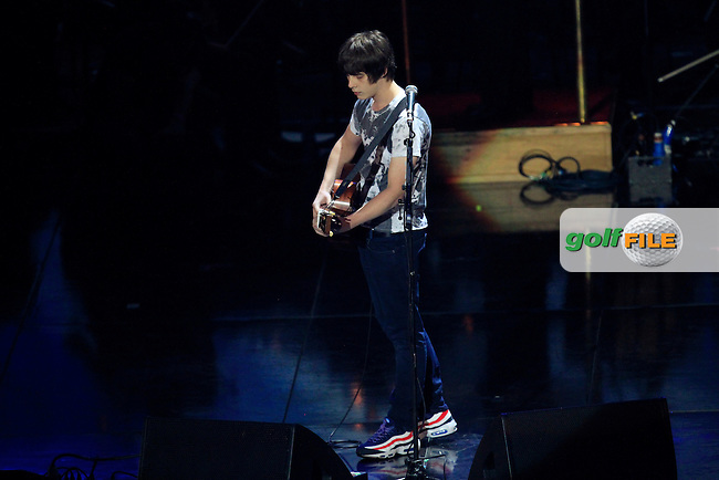 Jake Bugg during the Ryder Cup Gala Concert 2014 at SSE Hydro on Wednesday 24th September 2014.<br /> Picture:  Thos Caffrey / www.golffile.ie