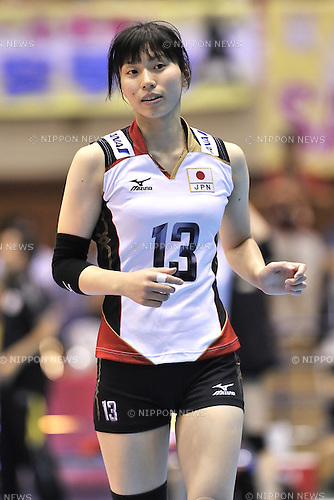 Risa Shinnabe (JPN),<br /> AUGUST 17, 2013 - Volleyball :<br /> 2013 FIVB World Grand Prix, Preliminary Round Week 3 Pool M match Japan 1-3 United States at Sendai Gymnasium in Sendai, Miyagi, Japan. (Photo by Ryu Makino/AFLO)