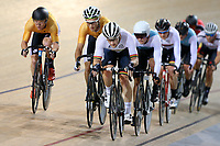 Dylan Kennett (LR) of Waikato BOP  leads out front in the Elite Men Omnium 4, Points Race 25km, at the Age Group Track National Championships, Avantidrome, Home of Cycling, Cambridge, New Zealand, Saturday, March 18, 2017. Mandatory Credit: © Dianne Manson/CyclingNZ  **NO ARCHIVING**