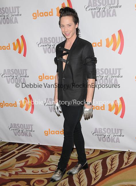 Johnny Weir at the 21st Annual GLAAD Media Awards held at The Hyatt Regency Century Plaza in Century City, California on April 17,2010                                                                   Copyright 2010  DVS / RockinExposures