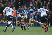 George Earle of Cardiff Blues in action during the Guinness Pro14 Round 8 match between the Cardiff Blues and Zebre Rugby at the Cardiff Arms Park in Cardiff, Wales, UK. Sunday 4th November 2018