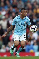 Gabriel Jesus of Manchester City during the Premier League match between Manchester City and Swansea City at the Etihad Stadium, Manchester, England, UK. Sunday 22 April 2018