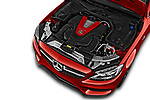Car Stock 2018 Mercedes Benz C-Class AMG-C43 2 Door Coupe Engine  high angle detail view