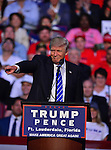 SUNRISE, FL - AUGUST 10: Republican presidential candidate Donald J.Trump addresses the audience during a campaign event at BB&amp;T Center on Wednesday, August 10th, 2016 in Sunrise, Florida.<br /> ( Photo by Johnny Louis / jlnphotography.com )
