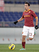 Calcio, ottavi di finale di Coppa Italia: Roma vs Atalanta. Roma, stadio Olimpico, 11 dicembre 2012..AS Roma defender Ivan Piris, of Paraguay, in action during their Italy Cup last-16 tie football match between AS Roma and Atalanta at Rome's Olympic stadium, 11 december 2012. .UPDATE IMAGES PRESS/Riccardo De Luca