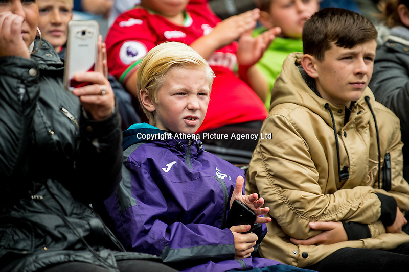 Swansea supporters during the Swansea City Training Session at The Liberty Stadium, Swansea, Wales, UK. 02 August 2017