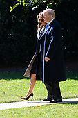 United States President Donald J. Trump and First Lady Melania Trump depart The White House in Washington, DC,, October 30, 2018 headed to Pittsburgh, PA to meet with members of the local Jewish community after a recent shooting at a synagogue.<br /> Credit: Chris Kleponis / CNP