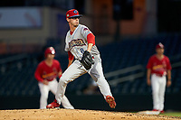 Clearwater Threshers pitcher Austin Ross (8) during a Florida State League game against the Palm Beach Cardinals on August 10, 2019 at Roger Dean Chevrolet Stadium in Jupiter, Florida.  Clearwater defeated Palm Beach 11-4.  (Mike Janes/Four Seam Images)
