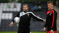 MK Dons Assistant Manager, Stevie Crawford during Forest Green Rovers vs MK Dons, Caraboa Cup Football at The New Lawn on 8th August 2017