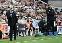 Newcastle United manager Rafa Benitez (left) and Liverpool manager Jurgen Klopp in the dug-out <br /> <br /> Photographer Rich Linley/CameraSport<br /> <br /> The Premier League -  Newcastle United v Liverpool - Sunday 1st October 2017 - St James' Park - Newcastle<br /> <br /> World Copyright &copy; 2017 CameraSport. All rights reserved. 43 Linden Ave. Countesthorpe. Leicester. England. LE8 5PG - Tel: +44 (0) 116 277 4147 - admin@camerasport.com - www.camerasport.com