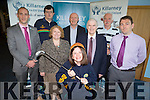 Clare Rohan launching the Kerry Stars golf classic sponsored by Killarney credit Union which will be held in <br /> Beafort golf Course on June 11 back row: Mark Murphy, Michael, helen Courtney, Tom Tobin, Pat delaney, Denny Murphy and tim Horgan