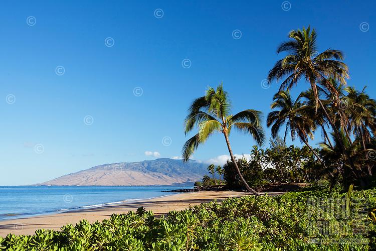 Beautiful sunny day at Charley Young Beach, Maui, Hawaii.