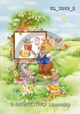 Interlitho, Michele, EASTER, paintings, rabbit school(KL3269/2,#E#) Ostern, Pacua, illustrations, pinturas