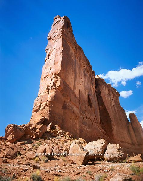 A Natural Edifice At Arches National Park, Utah, USA