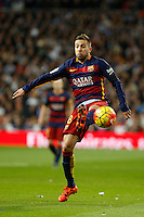 Barcelona´s Jordi Alba during 2015-16 La Liga match between Real Madrid and Barcelona at Santiago Bernabeu stadium in Madrid, Spain. November 21, 2015. (ALTERPHOTOS/Victor Blanco) /NortePhoto