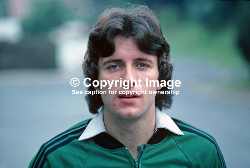 Terry Cochrane, soccer player, footballer, Middlesborough FC, N Ireland international, during training session before N Ireland v Portugal match. 198011000368b<br />