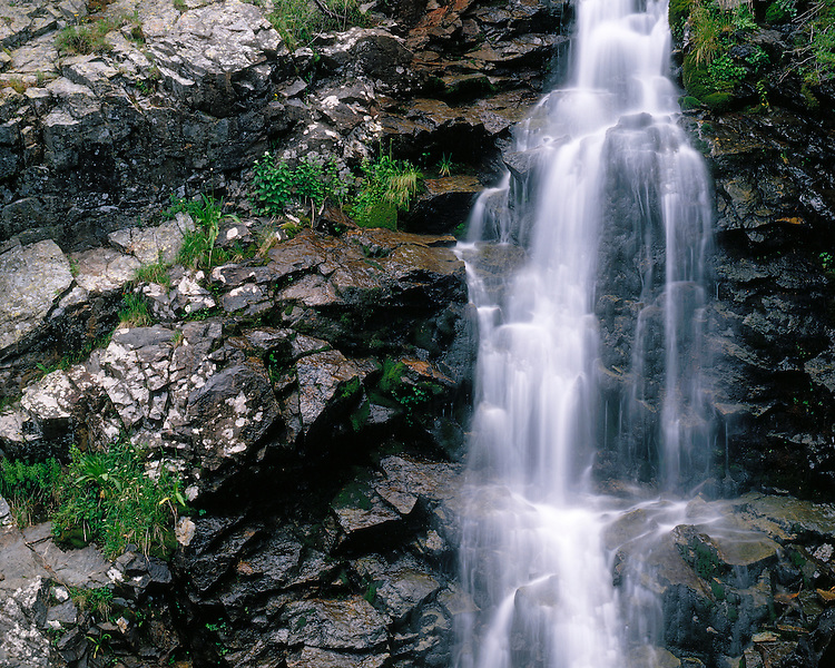 Waterfall above Williams Lake in the Wheeler Peak Wilderness in the Sangre de Cristo Range; Carson National Forest, NM