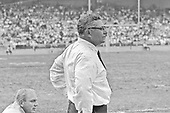 Washington Redskins head coach Vince Lombardi yells instructions to his team as he paces the sidelines during the game against the Saint Louis Cardinals at RFK Stadium in Washington, DC on October 12, 1969. Future Redskins head coach Bill Austin is at lower left.  The Redskins won the game 33 - 17.<br /> Credit: Arnie Sachs / CNP