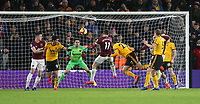 Wolverhampton Wanderers' Romain Saiss scores his side's first goal  <br /> <br /> Photographer Rob Newell/CameraSport<br /> <br /> The Premier League - Wolverhampton Wanderers v West Ham United - Tuesday 29th January 2019 - Molineux - Wolverhampton<br /> <br /> World Copyright © 2019 CameraSport. All rights reserved. 43 Linden Ave. Countesthorpe. Leicester. England. LE8 5PG - Tel: +44 (0) 116 277 4147 - admin@camerasport.com - www.camerasport.com