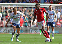 Preston North End's Brad Potts chases down Nottingham Forest's Sammy Ameobi<br /> <br /> Photographer David Shipman/CameraSport<br /> <br /> The EFL Sky Bet Championship - Nottingham Forest v Preston North End - Saturday 31st August 2019 - The City Ground - Nottingham<br /> <br /> World Copyright © 2019 CameraSport. All rights reserved. 43 Linden Ave. Countesthorpe. Leicester. England. LE8 5PG - Tel: +44 (0) 116 277 4147 - admin@camerasport.com - www.camerasport.com
