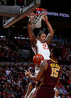 Ohio State Buckeyes center Amir Williams (23) finishes a dunk over Minnesota Golden Gophers forward Maurice Walker (15) during the first half of the NCAA men's basketball game between the Ohio State Buckeyes and the Minnesota Golden Gophers at Value City Arena in Columbus, Ohio, on Saturday, Feb. 22, 2014. At the end of the first half, Minnesota led Ohio State, 28-18. (Columbus Dispatch/Sam Greene)