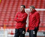 Chris Morgan manager of the U21 and assistant John Dungworth - Professional Development League Two - Sheffield Utd U21's  vs Birmingham City U21's  - Bramall Lane - Sheffield - England - 21st December 2015 - Pic Simon Bellis/Sportimage
