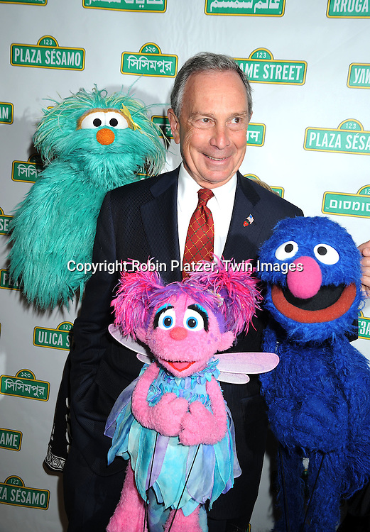 characters and  Mayor Michael Bloomberg