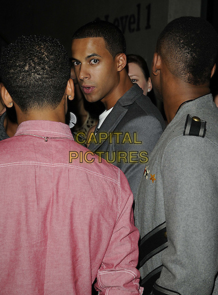 JLS - Marvin Humes .BT Digital Music Awards held at the Roundhouse, Chalk Farm, London, England..September 29th 2011.half length grey gray side jacket  .CAP/CAN.©Can Nguyen/Capital Pictures.
