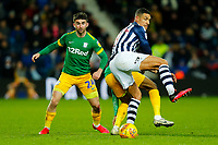 25th February 2020; The Hawthorns, West Bromwich, West Midlands, England; English Championship Football, West Bromwich Albion versus Preston North End; Jake Livermore of West Bromwich Albion holds the ball up