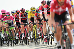 The peloton including race leader Yellow Jersey Greg Van Avermaet (BEL) BMC Racing Team in action during Stage 8 of the 2018 Tour de France running 181km from Dreux to Amiens Metropole, France. 14th July 2018. <br /> Picture: ASO/Alex Broadway | Cyclefile<br /> All photos usage must carry mandatory copyright credit (&copy; Cyclefile | ASO/Alex Broadway)