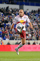 Joel Lindpere (20) of the New York Red Bulls. The New York Red Bulls defeated the Los Angeles Galaxy 2-0 during a Major League Soccer (MLS) match at Red Bull Arena in Harrison, NJ, on October 4, 2011.