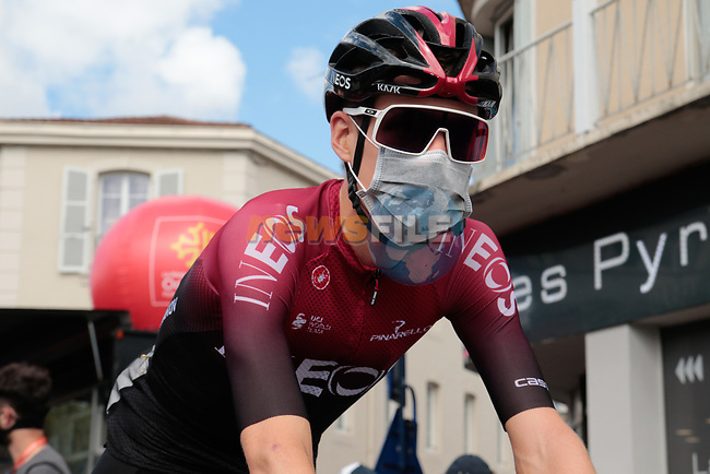 Pavel Sivakov (RUS) Team Ineos arrives at sign on before Stage 3 of the Route d'Occitanie 2020, running 163.5km from Saint-Gaudens to Col de Beyrède, France. 3rd August 2020. <br /> Picture: Colin Flockton | Cyclefile<br /> <br /> All photos usage must carry mandatory copyright credit (© Cyclefile | Colin Flockton)