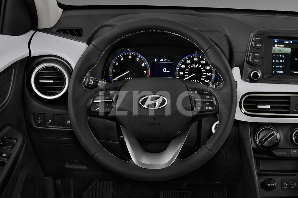 Car pictures of steering wheel view of a 2019 Hyundai Kona SEL AUTO 5 Door SUV