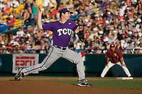 TCU's Lockwood, Tyler 7215.jpg against Florida State at the College World Series on June 23rd, 2010 at Rosenblatt Stadium in Omaha, Nebraska.  (Photo by Andrew Woolley / Four Seam Images)