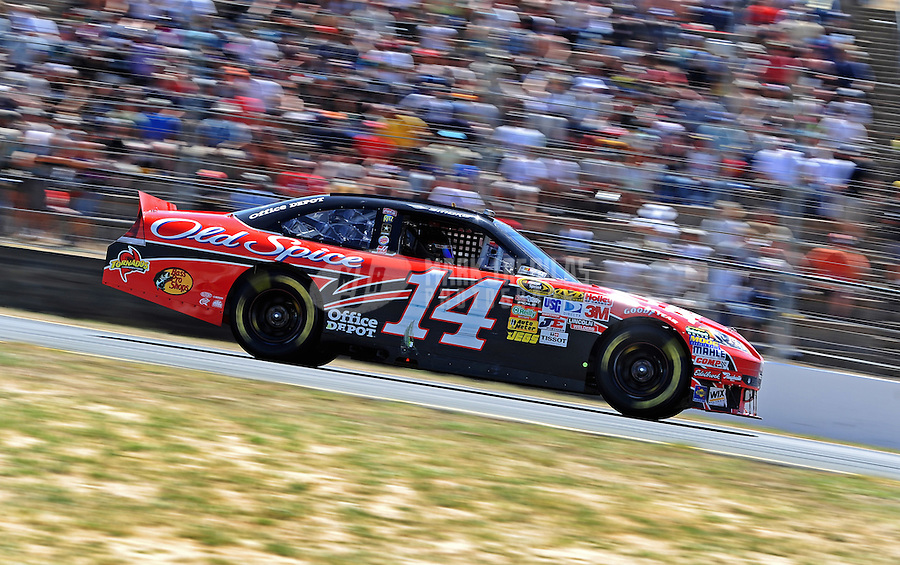 Jun. 20, 2010; Sonoma, CA, USA; NASCAR Sprint Cup Series driver Tony Stewart during the SaveMart 350 at Infineon Raceway. Mandatory Credit: Mark J. Rebilas-