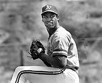 Oakland Athletics pitcher..1983 Spring Training  in Arizona.. (unidentified)..(1983 photo/Ron Riesterer)