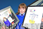 ART ATTACK: Makaela Crowley of Scoil Mhuire, Killorglin, who was one of the regional winners in the recent Lee Strand art competition.