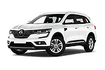 Stock pictures of low aggressive front three quarter view of a 2017 Renault Koleos Zen 5 Door SUV