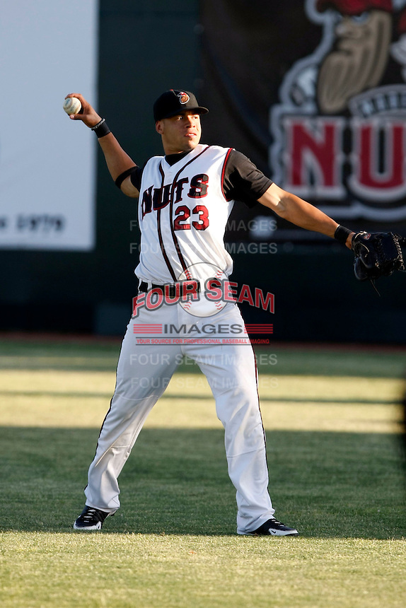 Michael Mitchell  -  2009 Modesto Nuts playing against the Visalia Rawhide at John Thurman Field, Modesto, CA - 05/19/2009.Photo by:  Bill Mitchell/Four Seam Images