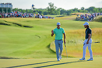 Brooks Koepka (USA) after his lag putt on 18 during Sunday's round 4 of the 117th U.S. Open, at Erin Hills, Erin, Wisconsin. 6/18/2017.<br /> Picture: Golffile | Ken Murray<br /> <br /> <br /> All photo usage must carry mandatory copyright credit (&copy; Golffile | Ken Murray)