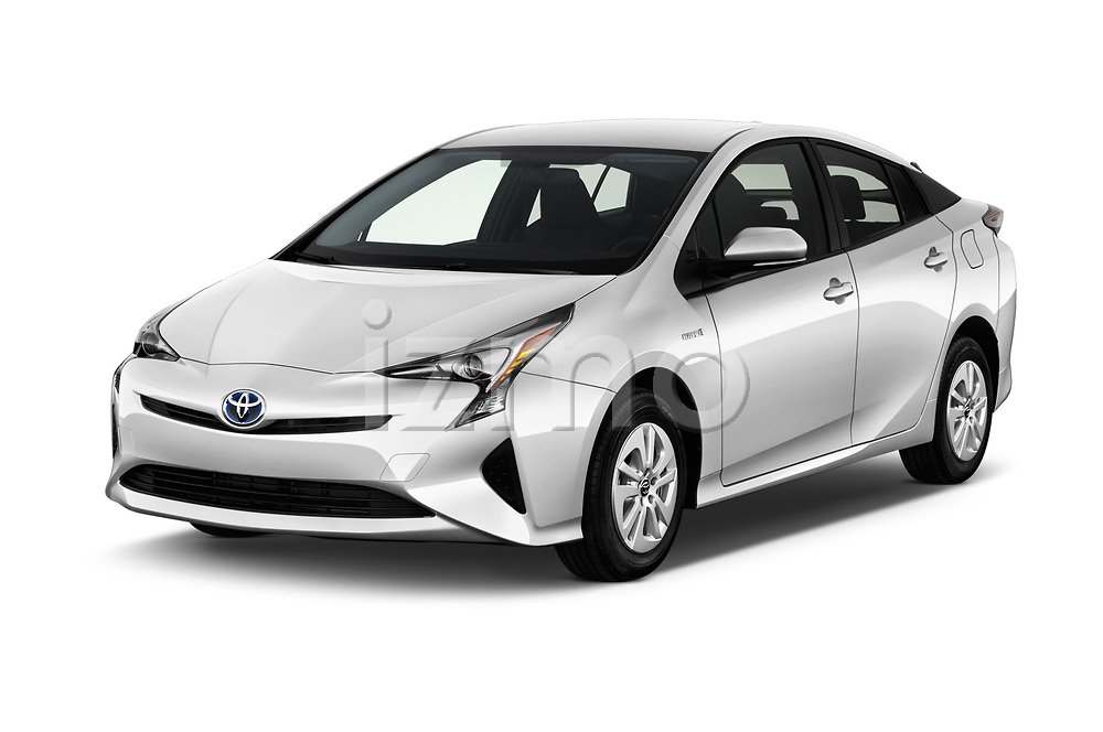 2018 Toyota Prius Two 5 Door Hatchback Angular Front stock photos of front three quarter view