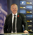 Alex McLeish at the Scottish Cup 3rd round draw