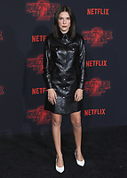 """WESTWOOD - OCTOBER 26:  Millie Bobby Brown at the premiere of Netflix's """"Stranger Things"""" Season 2 at the Regency Village Theatre on October 26, 2017 in Westwood, California. (Photo by Scott Kirkland/PictureGroup)"""