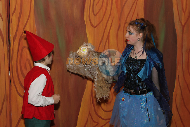 Isabelle Duff and Barry O'Brien at the Pinocchio Play in The Little Duke Theatre...(Photo credit should read Jenny Matthews www.newsfile.ie)....This Picture has been sent you under the conditions enclosed by:.Newsfile Ltd..The Studio,.Millmount Abbey,.Drogheda,.Co Meath..Ireland..Tel: +353(0)41-9871240.Fax: +353(0)41-9871260.GSM: +353(0)86-2500958.email: pictures@newsfile.ie.www.newsfile.ie.