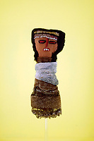 Peruvian fabric dolls of pre-Inca culture, dated between the XIV and the XV century found as tomb finds, among the 400 pcs collection of antique dolls from the 18th to the 19th century, among them famous names like Jumot, Marseille, Lenci, Rheinische Gummi, Steiff, Kruse, made of different materials, as porcelain, bisque, fabric, celluloid and composites.<br /> Antique toys exposed at Palazzo Braschi during the Exhibition 'For fun. Collection of antique toys of Capitoline Superintendency'.<br /> Rome (Italy), July 24th 2020<br /> Foto Samantha Zucchi Insidefoto