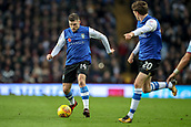 4th November 2017, Villa Park, Birmingham, England; EFL Championship football, Aston Villa versus Sheffield Wednesday; Adam Reach of Sheffield Wednesday asks Gary Hooper of Sheffield Wednesday to slide the ball into his path