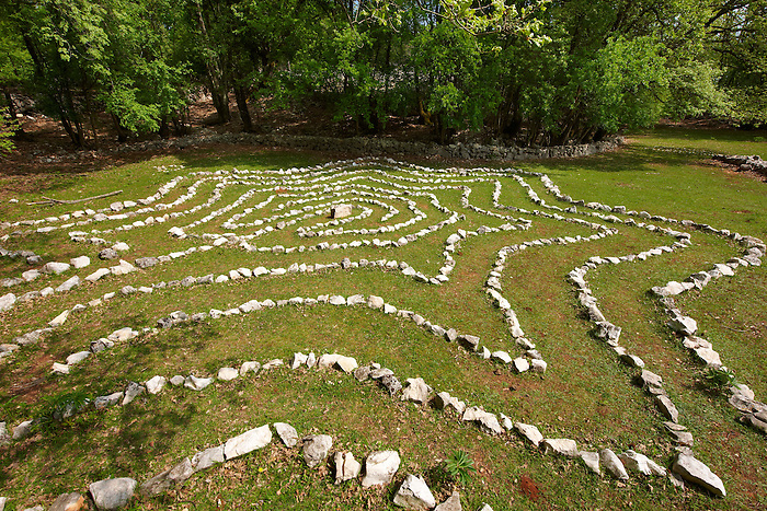 Isis's Labyrinth  in the Tramuntana Forest, Cres Island Croatia