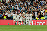 Real Madrid's players celebrate goal during Champions League match. September 19, 2018. (ALTERPHOTOS/A. Perez Meca)