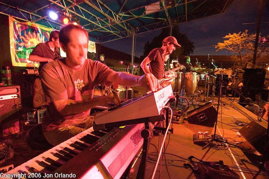 Members of the Motet perform at the SOBO Summerfest in Boulder, CO,  June 3rd, 2006.