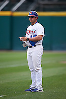 Buffalo Bisons Luis Hurtado (43) during a game against the Louisville Bats on June 23, 2016 at Coca-Cola Field in Buffalo, New York.  Buffalo defeated Louisville 9-6.  (Mike Janes/Four Seam Images)